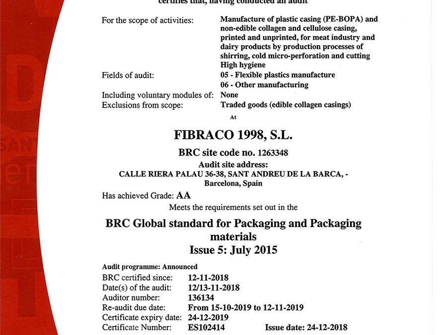 Obtención del Certificado BRC