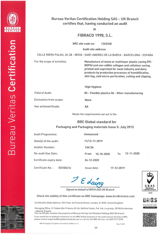 BRC_Certificate_FIBRACO
